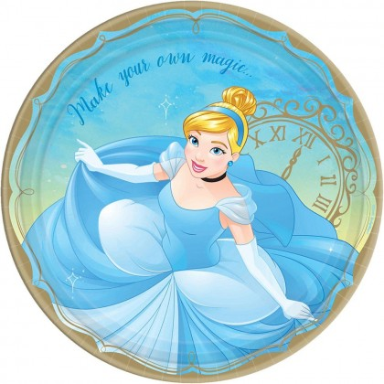 ©Disney Princess Once Upon A Time Round Plates, 9 in  - Cinderella