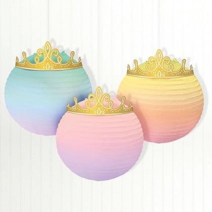 ©Disney Princess Once Upon A Time Embellished Lanterns - Paper & Foil
