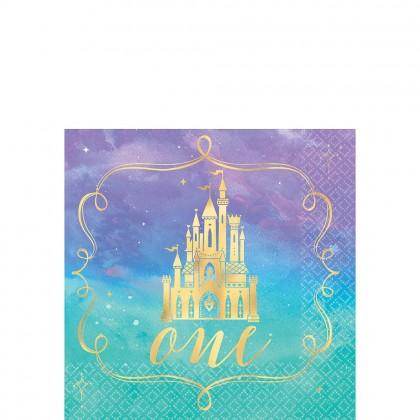 Disney Princess Once Upon A Time HS Beverage Napkins 1st Birthday