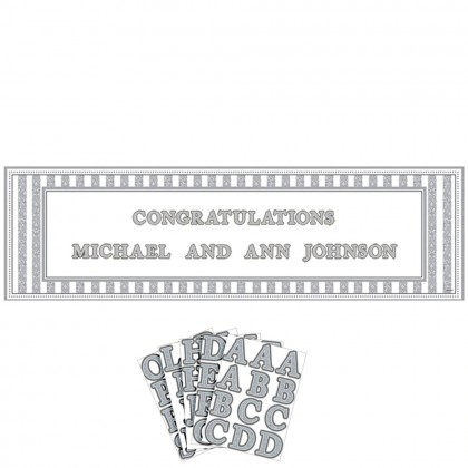 Wedding Personalizable Giant Sign Banner Plastic