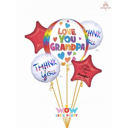 """Father's Day """"Love You Grandpa"""" Orbz Bouquet"""