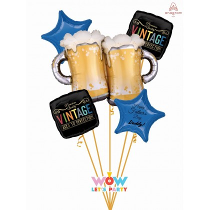 Father's Day Beer Mugs Balloon Bouquet