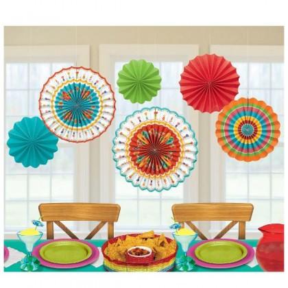Fiesta Fan Decorations Paper