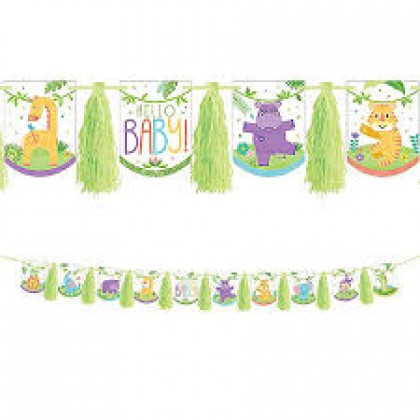 Fisher-Price Hello Baby 2-Sided Pennant Tassel Garland
