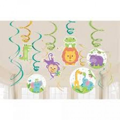 Fisher-Price Hello Baby Value Pack Spiral Decorations - Paper