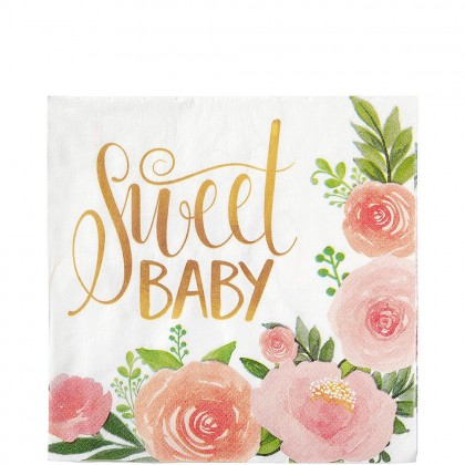 Floral Baby Luncheon Napkins