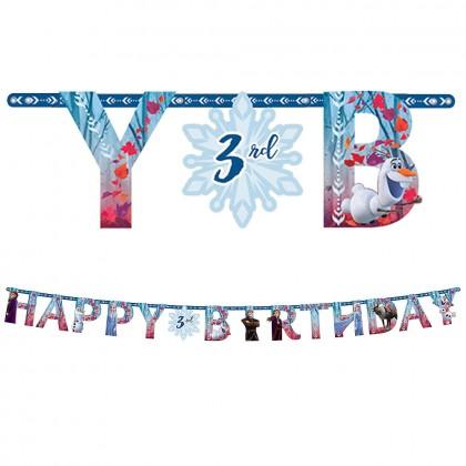 ©Disney Frozen Jumbo Add An Age Letter Banner