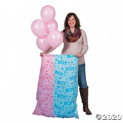 Gift Sack Reveal w/Balloons - Girl