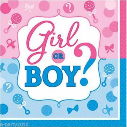 Girl or Boy Beverage Napkins