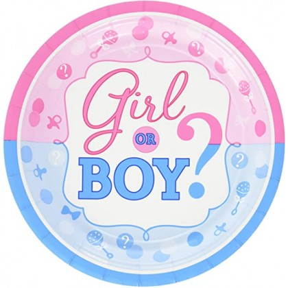 Girl or Boy Round Plates, 7 in