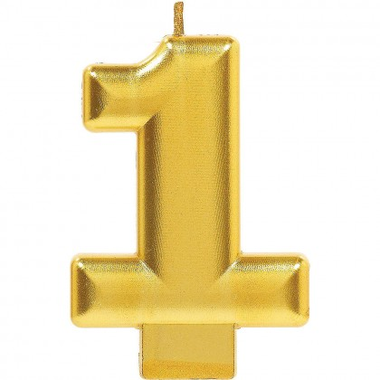 Numeral Candles Gold Metallic #1