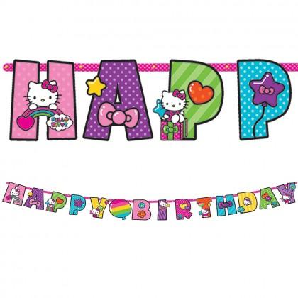 Hello Kitty® Rainbow Jumbo Add An Age Letter Banner Paper