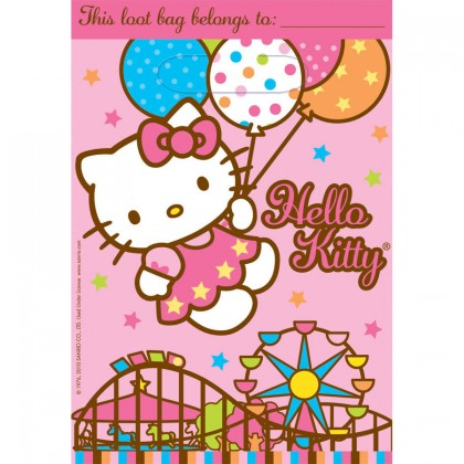 Hello Kitty®  Balloon Dreams Folded Loot Bags  Plastic