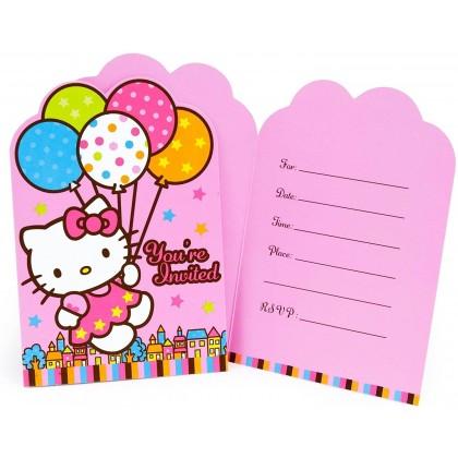 Hello Kitty® Balloon Dreams Postcard Invitations