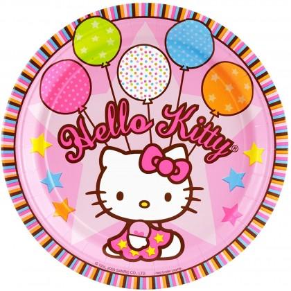 Hello Kitty® Balloon Dreams Round Plates 9 in