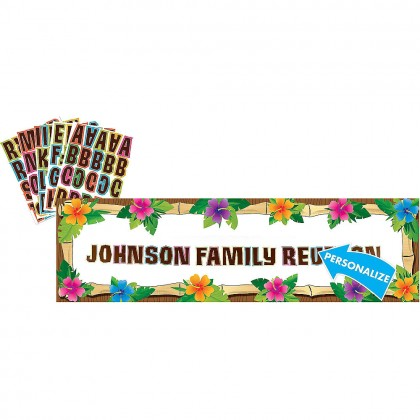 Luau Personalized Giant Sign Banner