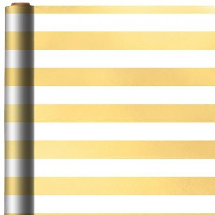 Stripe Gold Printed Jumbo Foil Gift Wrap
