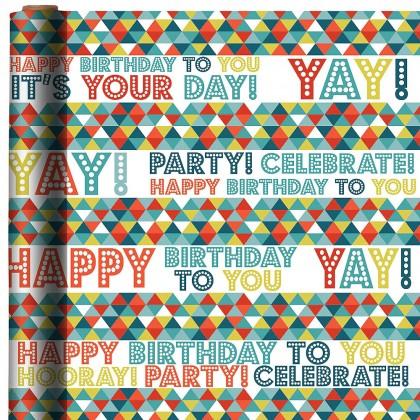 Birthday Triangles Printed Jumbo