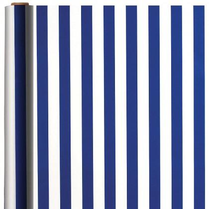 Stripe Bright Royal Blue Printed Jumbo Gift Wrap