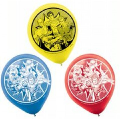 Justice League Heroes Unite Printed Latex Balloons - Asst. Colors