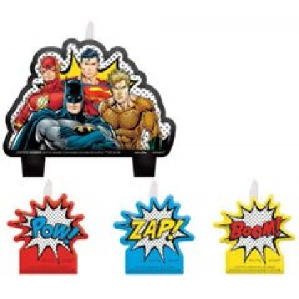 Justice League Heroes Unite Birthday Candle Set