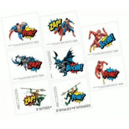 Justice League Heroes Unite Tattoo Favors