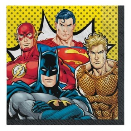 Justice League Heroes Unite Luncheon Napkins
