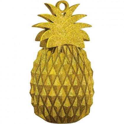 Pineapple Balloon Weight Glitter Plastic
