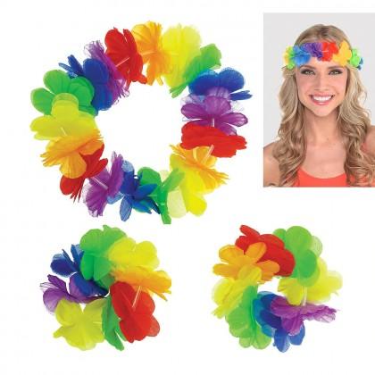 Hawaiian Accessory 3 Pack Rainbow