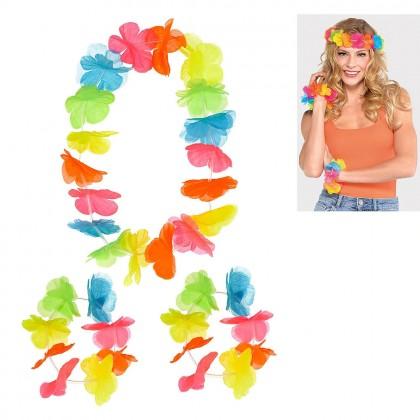 Head Wreath & Wristlet Set  Neon