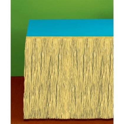 Grass Table Skirt  Natural
