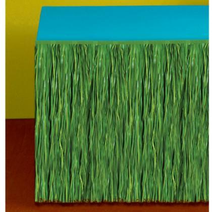 Grass Table Skirt  Green