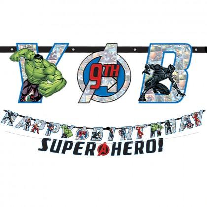 Marvel Avengers Powers Unite™ Jumbo Letter Banner Kit