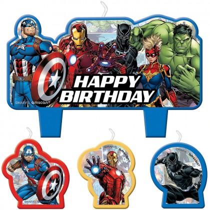 Marvel Avengers  Powers Unite Birthday Candle Set