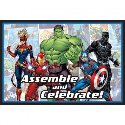 Marvel Avengers Powers Unite Postcard Invitations