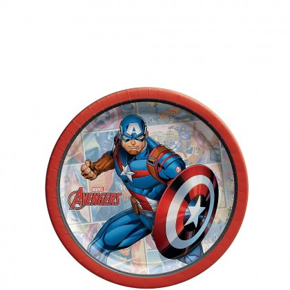 Marvel Avengers™  Powers Unite  Round Plates - Capt. America, 7 in