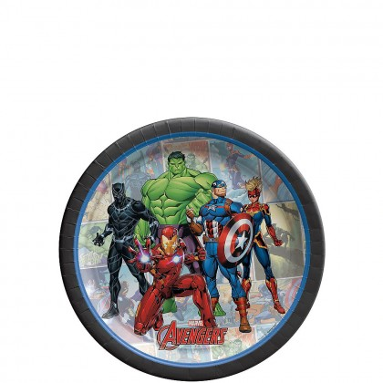 Marvel Avengers™  Powers Unite Round Plates, 7 in