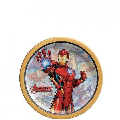 Marvel Avengers Powers Unite ™Round Plates - Iron Man, 7 in