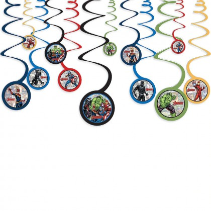 Marvel Avengers Powers Unite™ Spiral Decorations