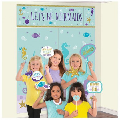 Mermaid Wishes Scene Setters with Props - Plastic