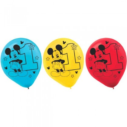 Disney Mickeys Fun To Be One Printed Latex Balloons Asst Colors