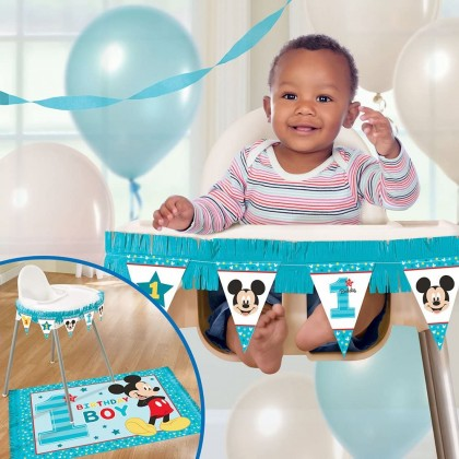 Disney Mickeys Fun To Be One High Chair Decorating Kit Paper & Plastic