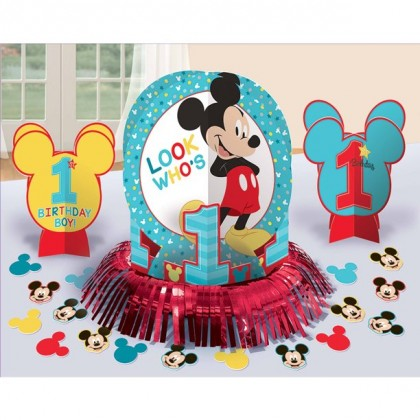 Disney Mickeys Fun To Be One Table Decorating Kit Paper & Foil Fringe