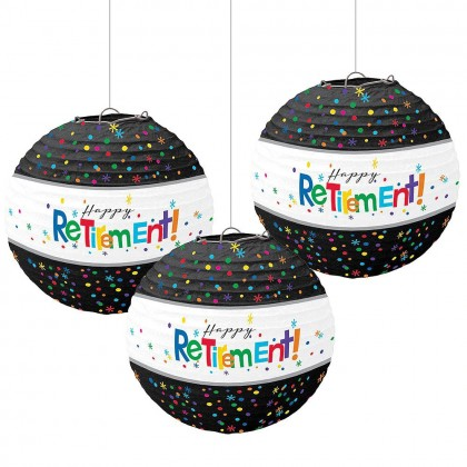 Officially Retired Paper Lanterns w/Metal Frame