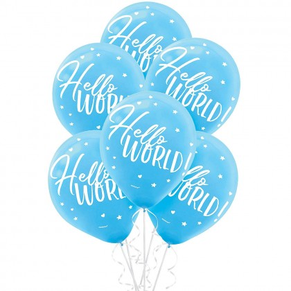 Oh Baby Boy Printed Latex Balloons