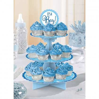 Baby Shower Blue Treat Stand