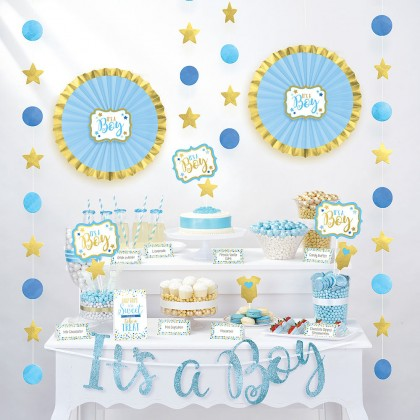 Baby Shower Blue Buffet Decorating Kit