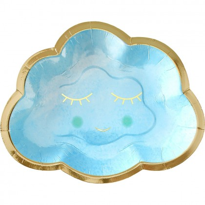 Oh Baby Boy Shaped Plates Metallic 6 1/2 in