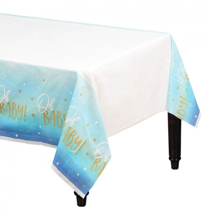Oh Baby Boy Plastic Table Cover