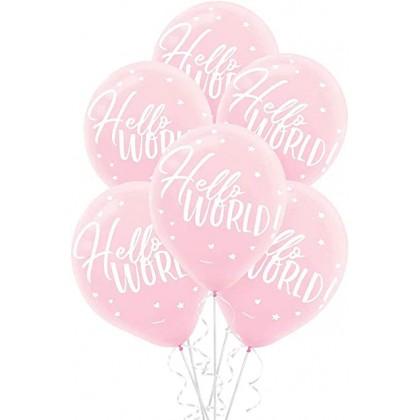 Oh Baby Girl Printed Latex Balloons